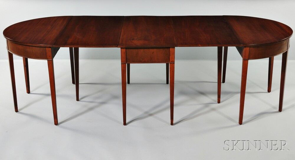 Hepplewhite style Three part Drop leaf Mahogany Dining  : 1117486 from www.skinnerinc.com size 1000 x 545 jpeg 74kB