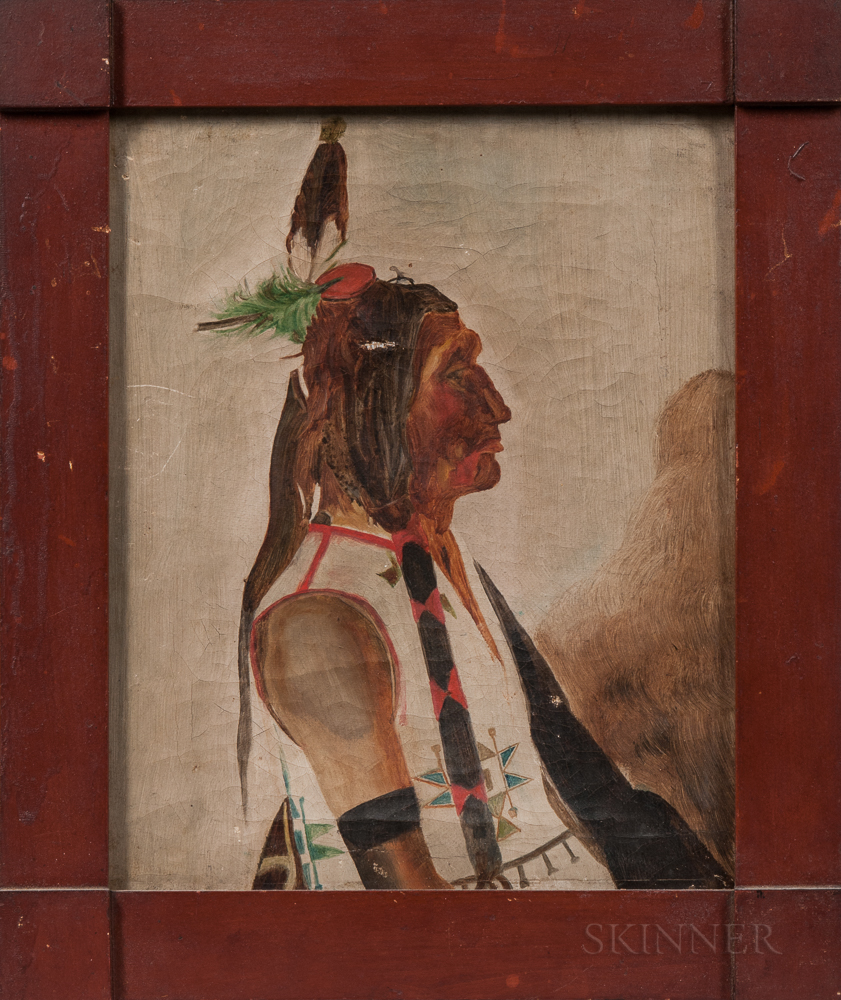 Oil on Board Portrait of an Indian