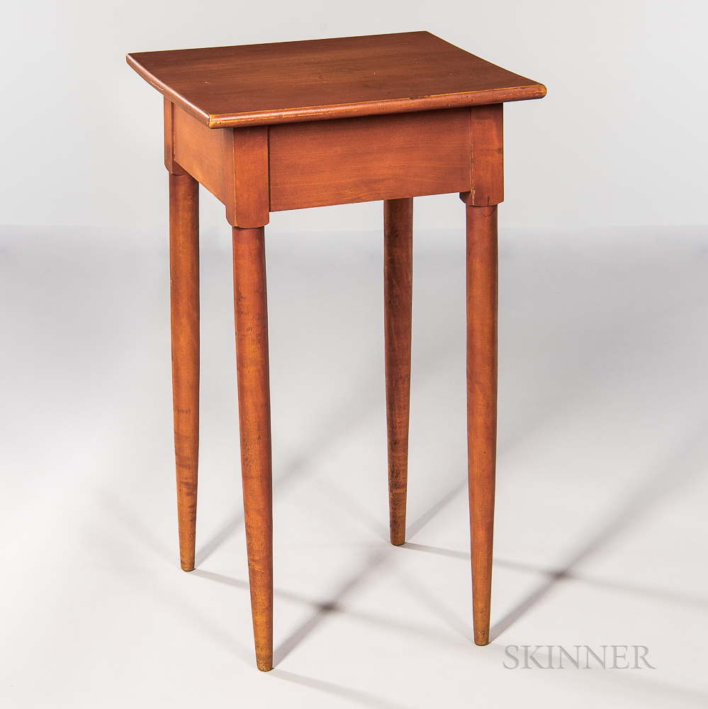 Shaker Red-painted Maple and Birch Stand