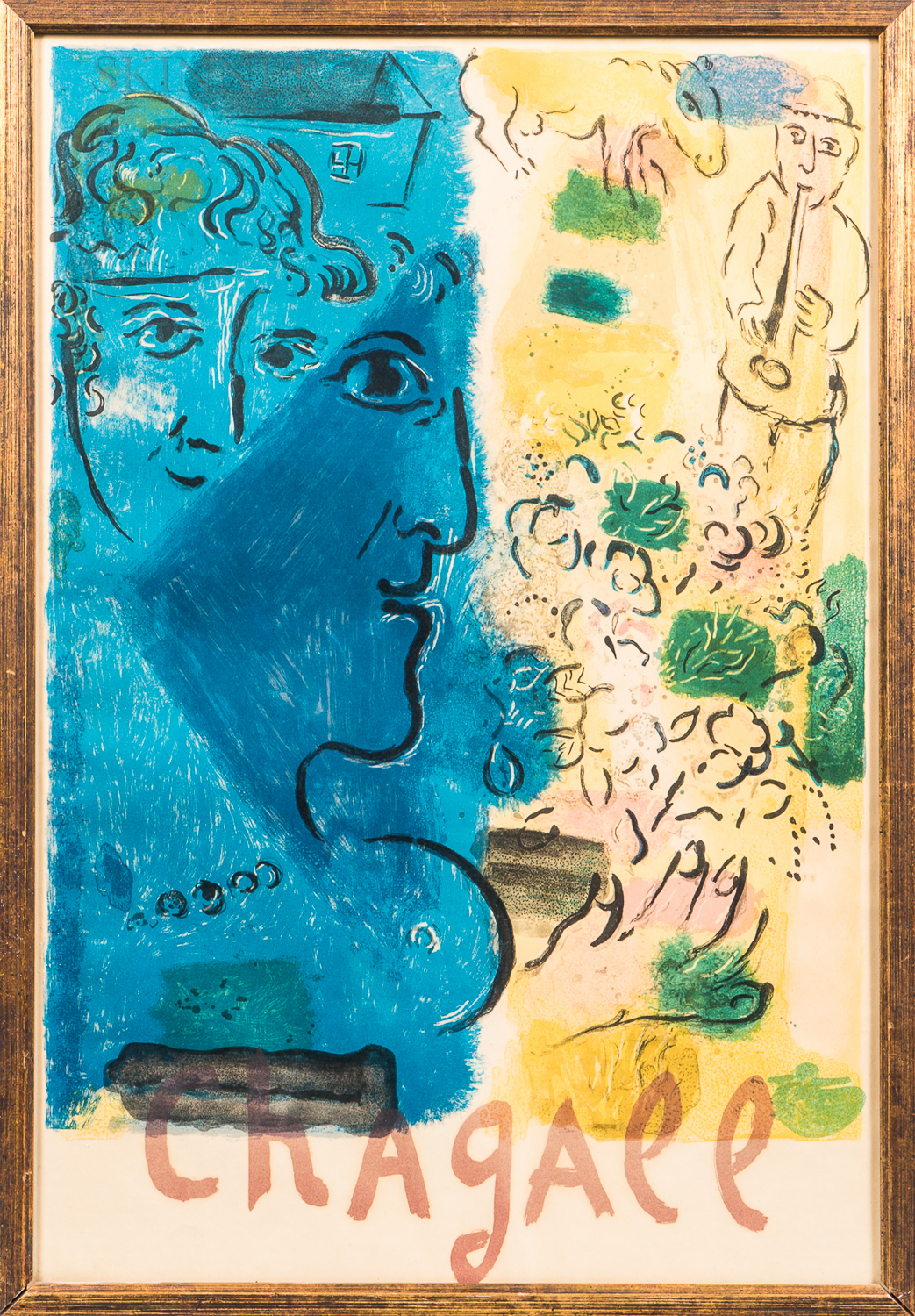 After Marc Chagall (Russian/French, 1887-1985)      Marc Chagall Exhibition Poster.