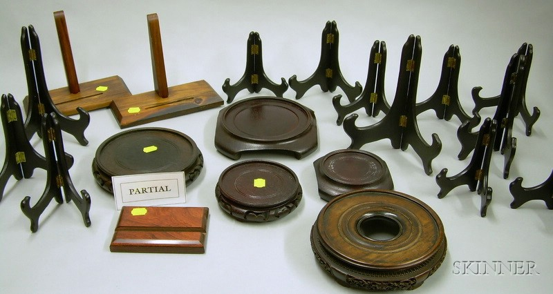 Collection of Hardwood Display Stands.