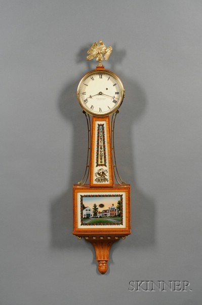 "Tiger Maple Patent Timepiece or ""Banjo"" Clock by Foster Campos"