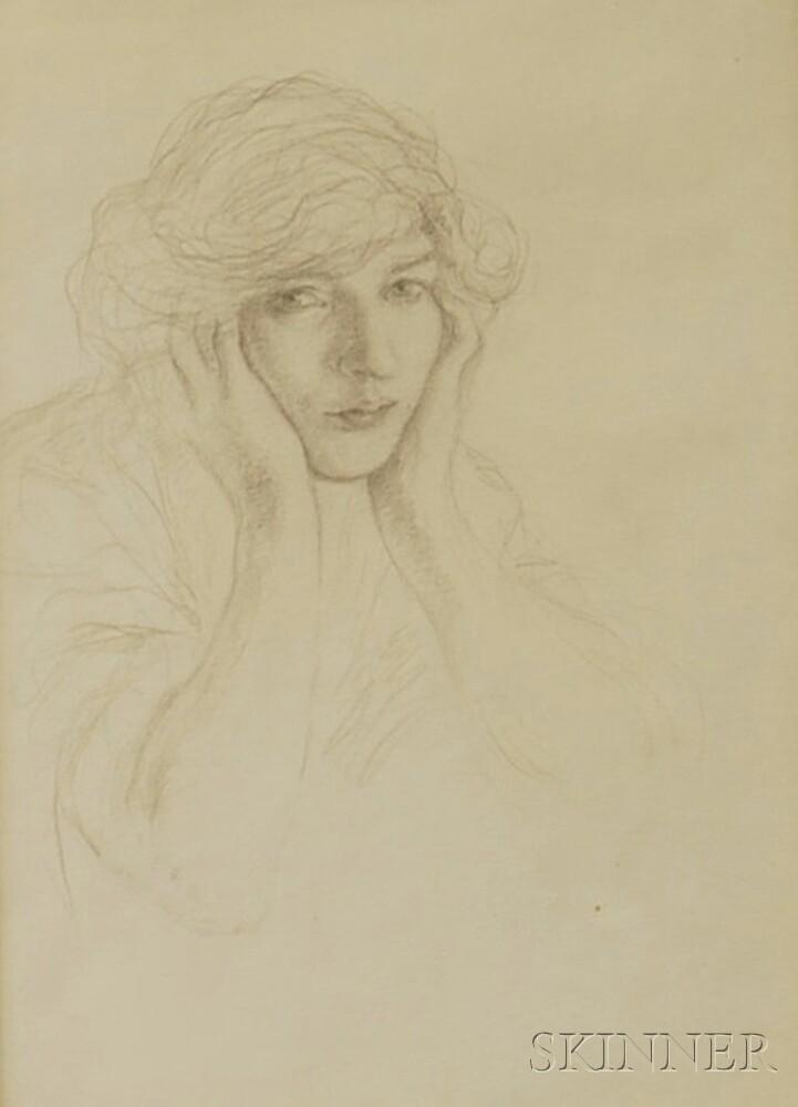 Sigismund Ivanowski (American, 1875-1944)      Portrait of a Woman.