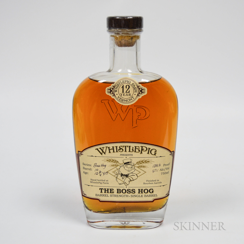 Whistle Pig The Boss Hog 12 Years Old, 1 750ml bottle