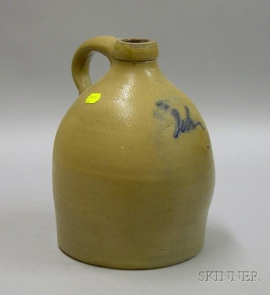 S. Hart Cobalt Decorated Stoneware Jug.