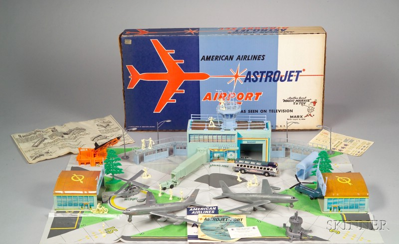 "Marx ""American Airlines Astro Jet Airport Set"""