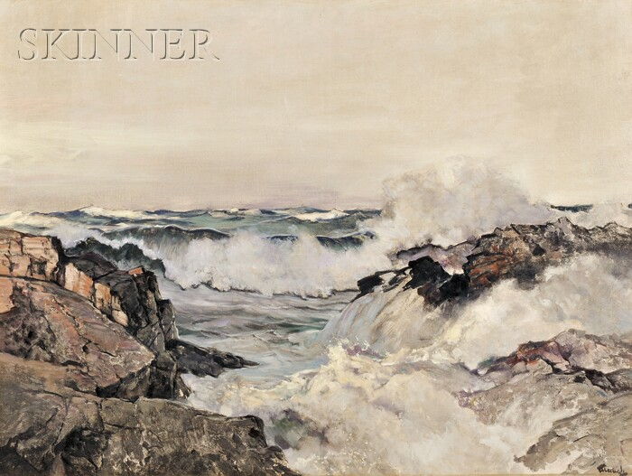Frederick Judd Waugh  (American, 1861-1940)      Evening Tide