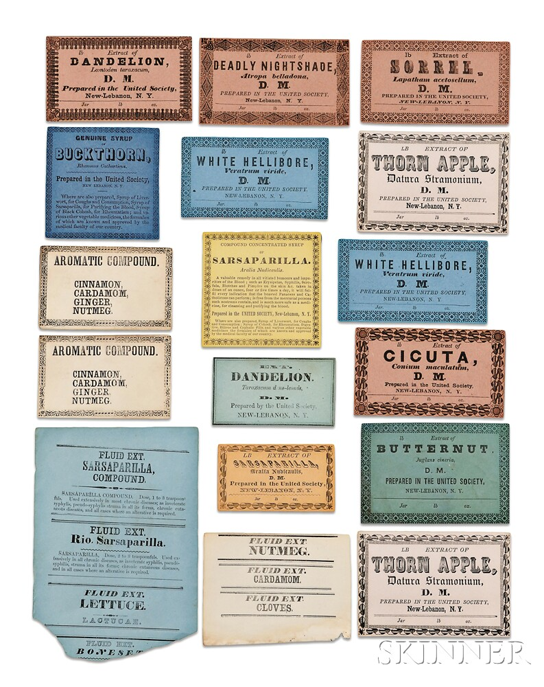 Seventeen Shaker Herb Labels