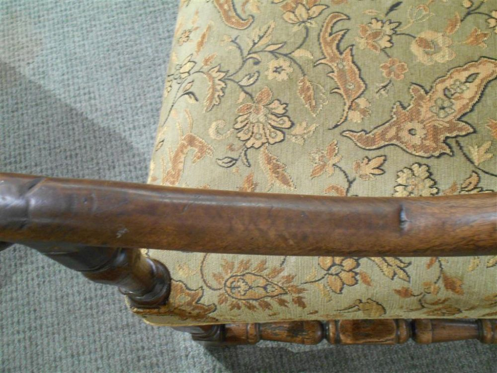 Three Jacobean-style Armchairs
