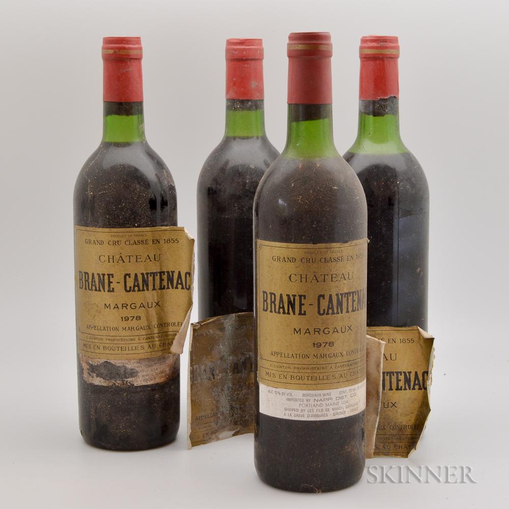 Chateau Brane Cantenac 1978, 4 bottles
