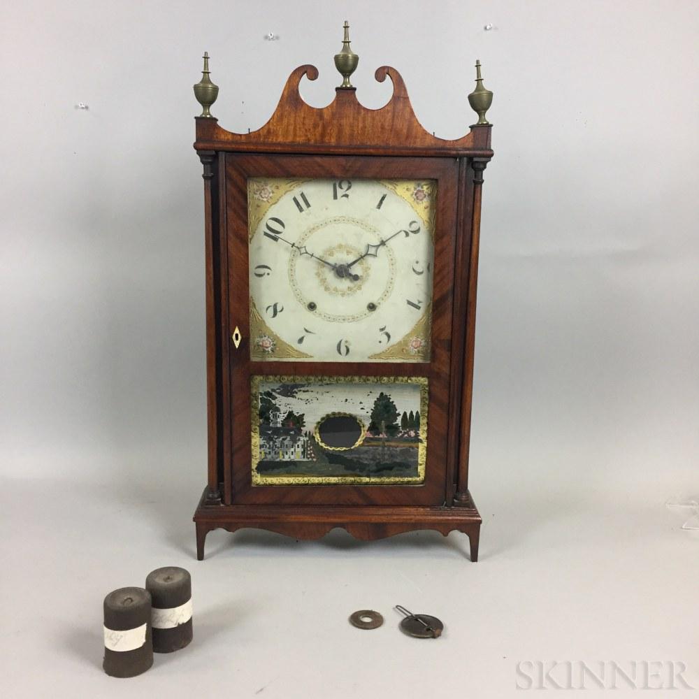 Eli Terry Pillar and Scroll Clock