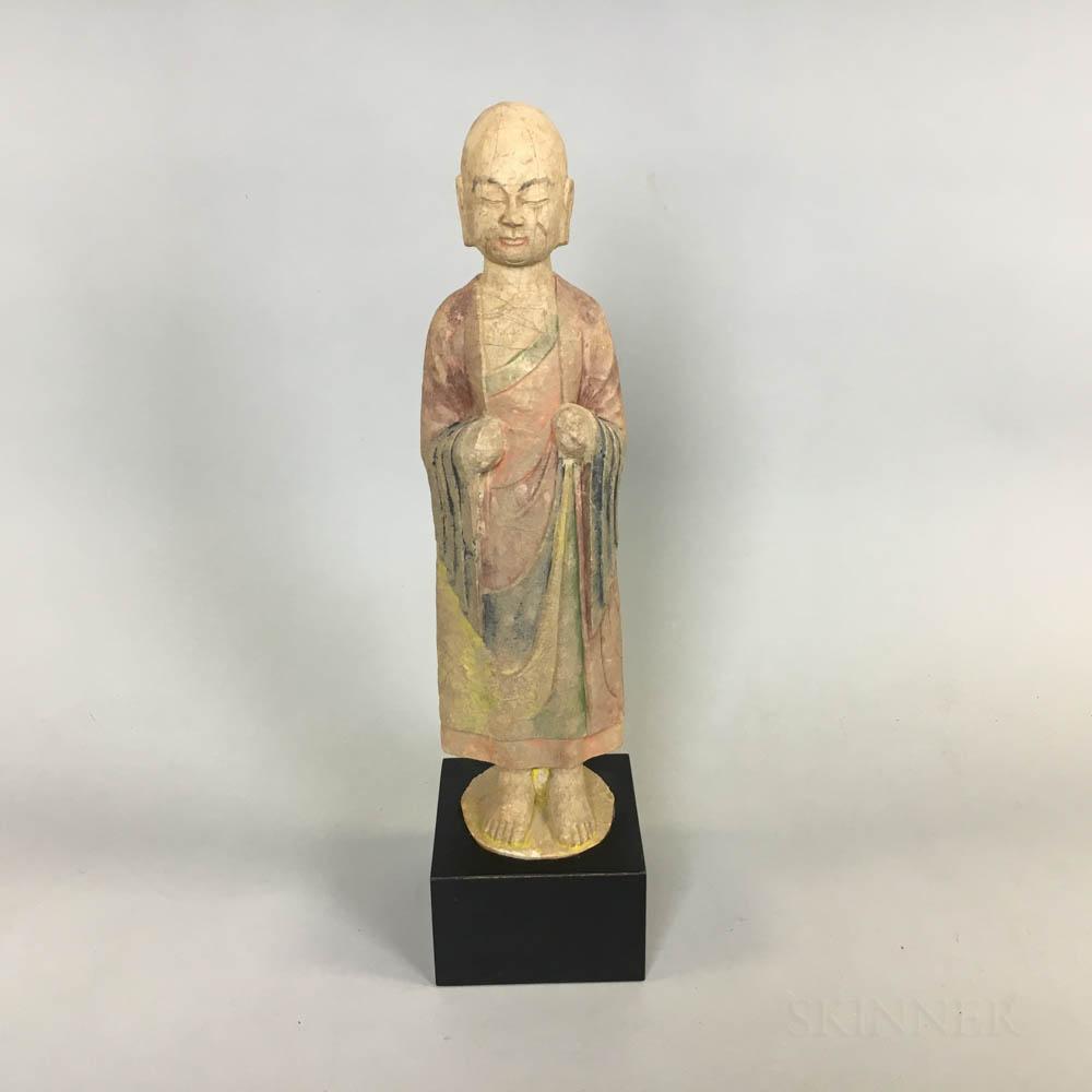 Polychrome Pottery Buddhist Figure