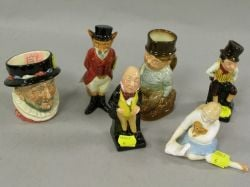 Six Royal Doulton Ceramic Figurines and a Small Toby