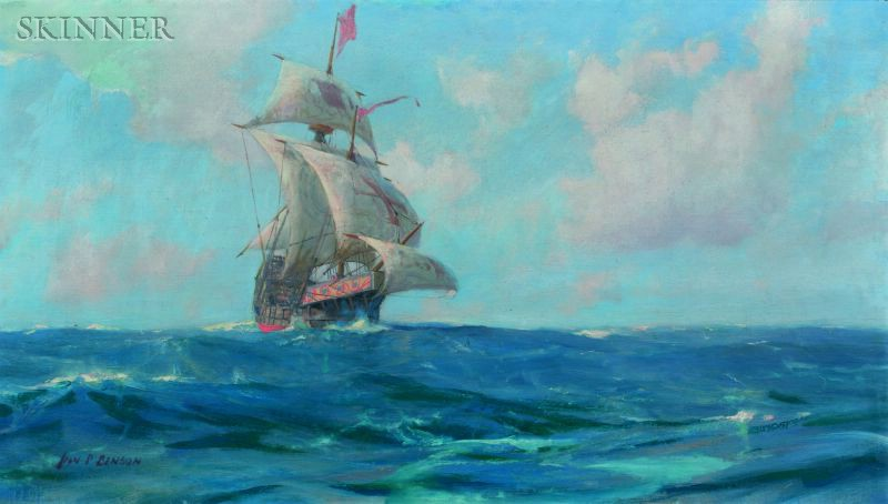 John Prentiss Benson (American, 1865-1947)      The Galleon