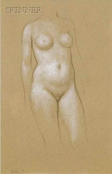William H. Bailey  (American, b. 1930)      Lot of Two Portraits of a Female Nude