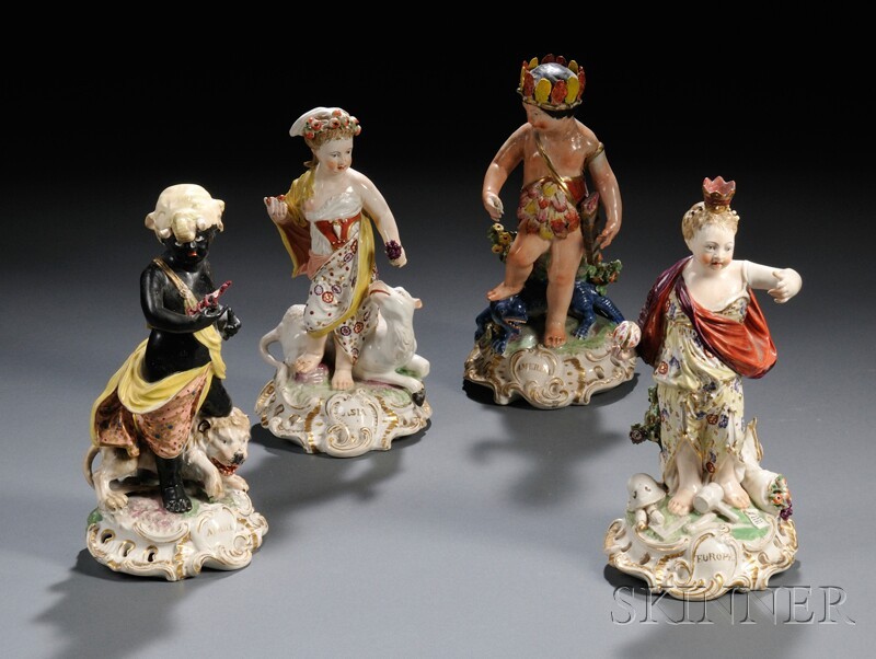 Four Derbyshire Porcelain Figures