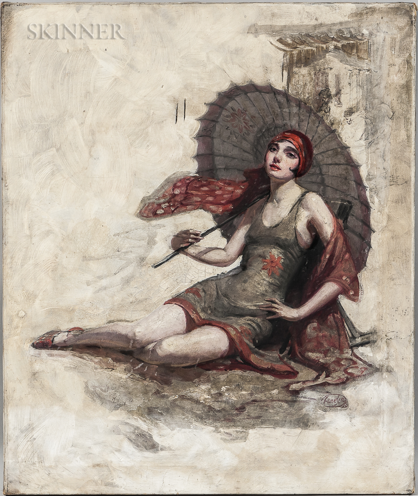 John Haelen (American, act. 1920-1930)      Illustration for For Ten Thousand Dollars