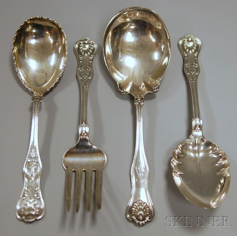 Four Dominick & Haff Sterling Silver Flatware Servers