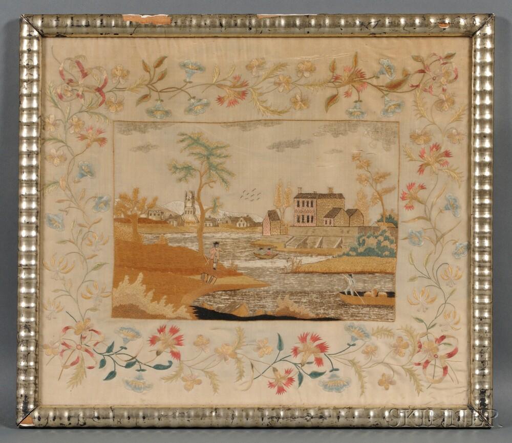 Silk Needlework Landscape