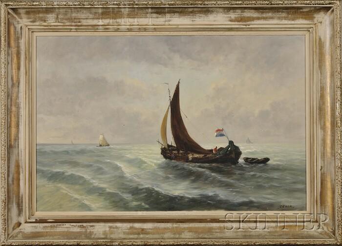 Continental School, 20th Century      Dutch Vessels at Sea