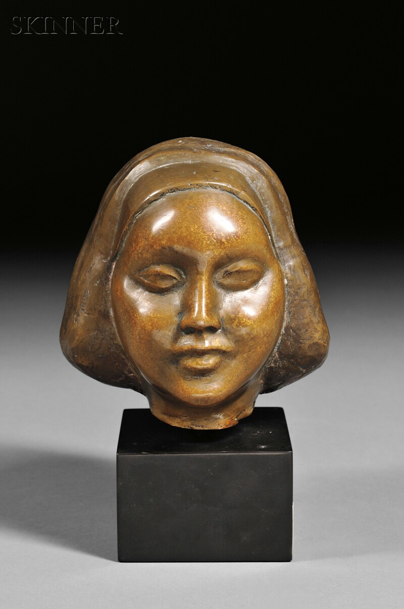 William Zorach (American, 1887-1966)    Head of a Girl