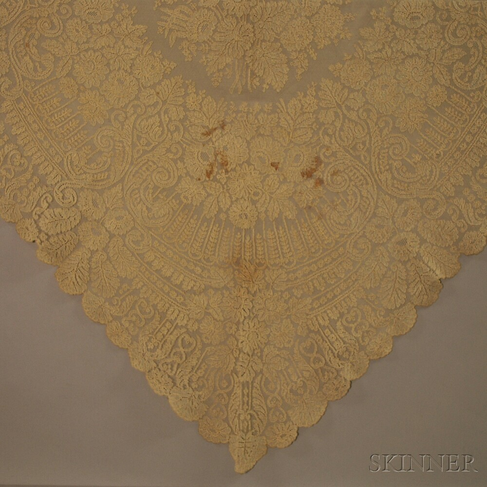 Two Lace Shawls and Two Lace Wedding Veils