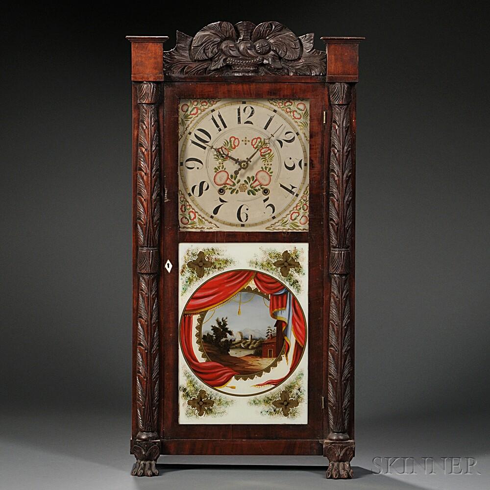 Rodney Brace Carved Mahogany Shelf Clock