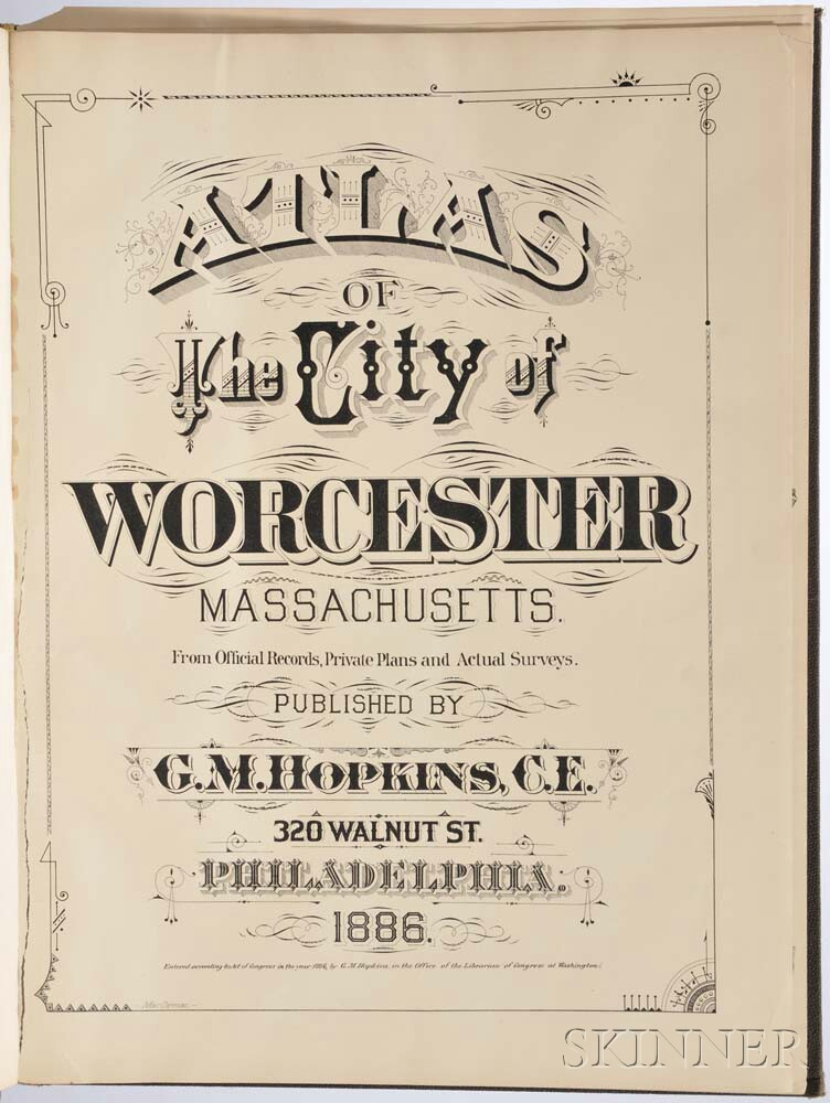 Atlas of the City of Worcester.