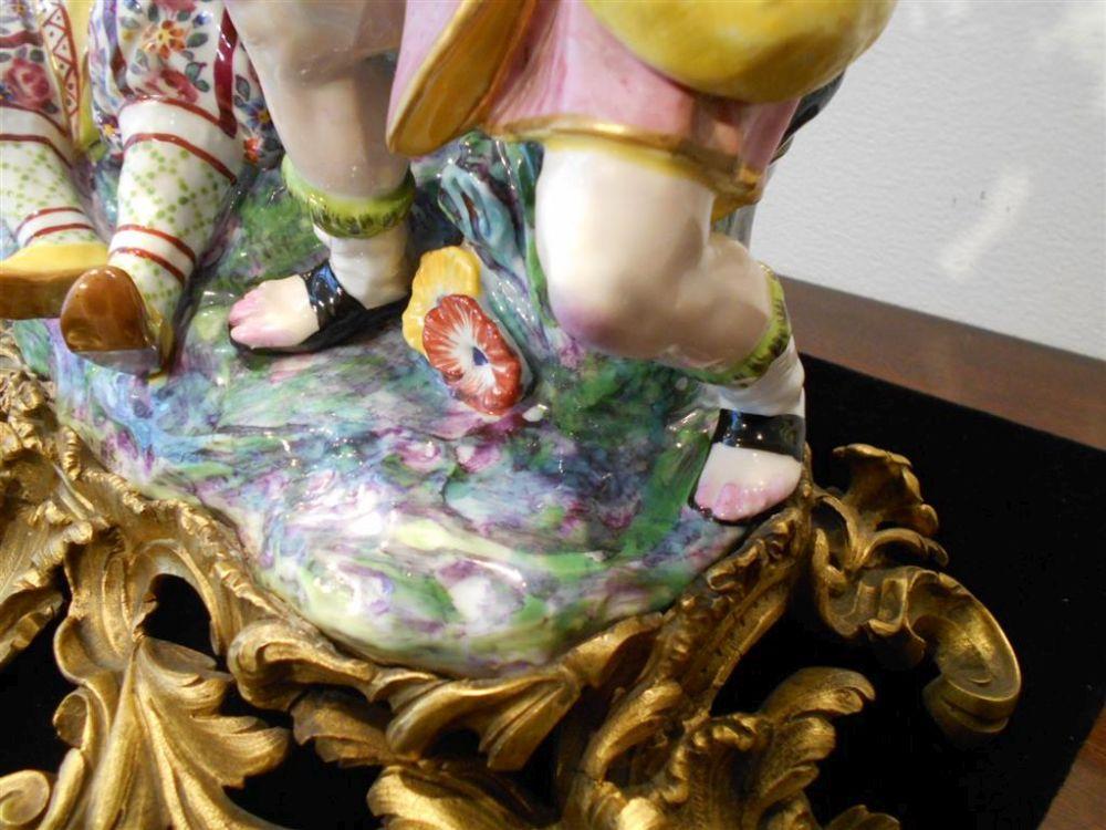 Bronze-mounted Porcelain Figural Vase