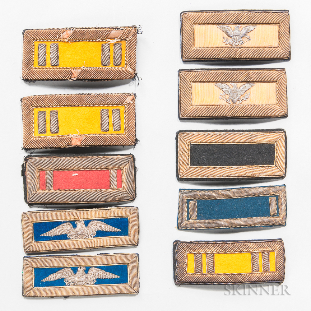 Group of Embroidered Officer's Shoulder Straps