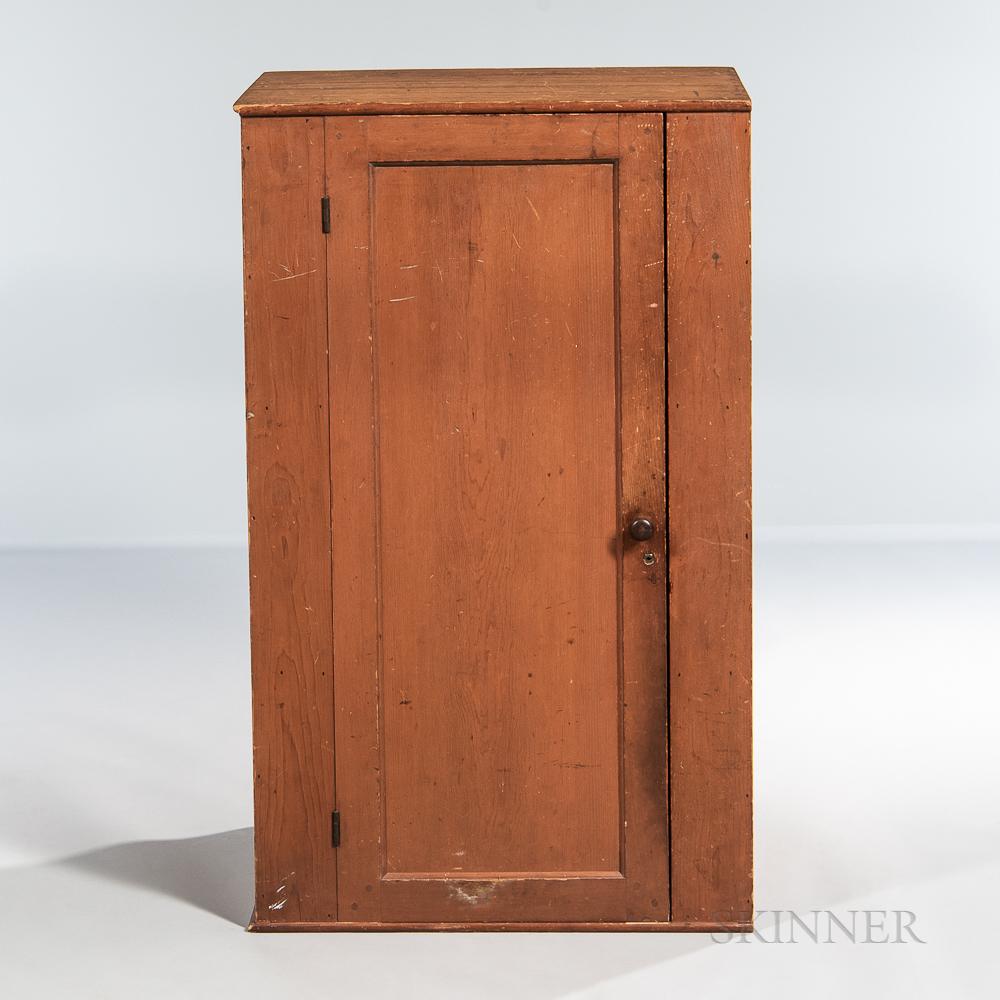 Shaker Orange-painted Cupboard