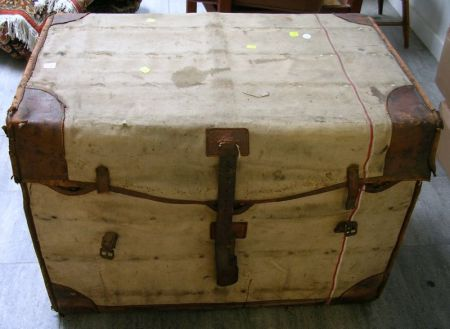 Louis Vuitton Steamer Trunk with Canvas Cover