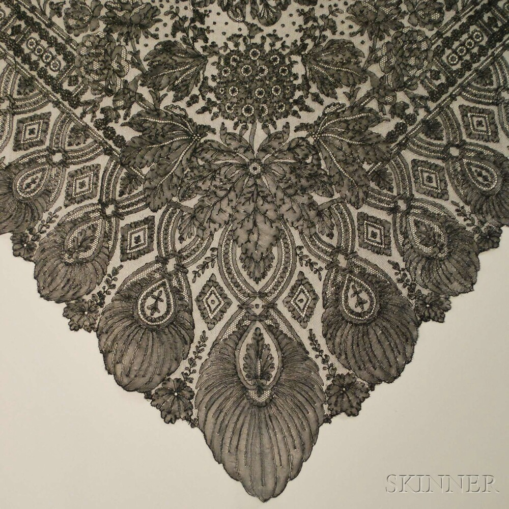 Ten Mostly French Black Lace Articles
