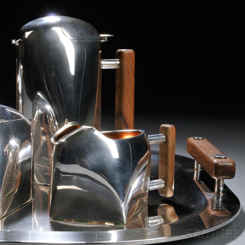 Gabriele De Vecchi (Italian, b. 1938) Five-piece Tea Service