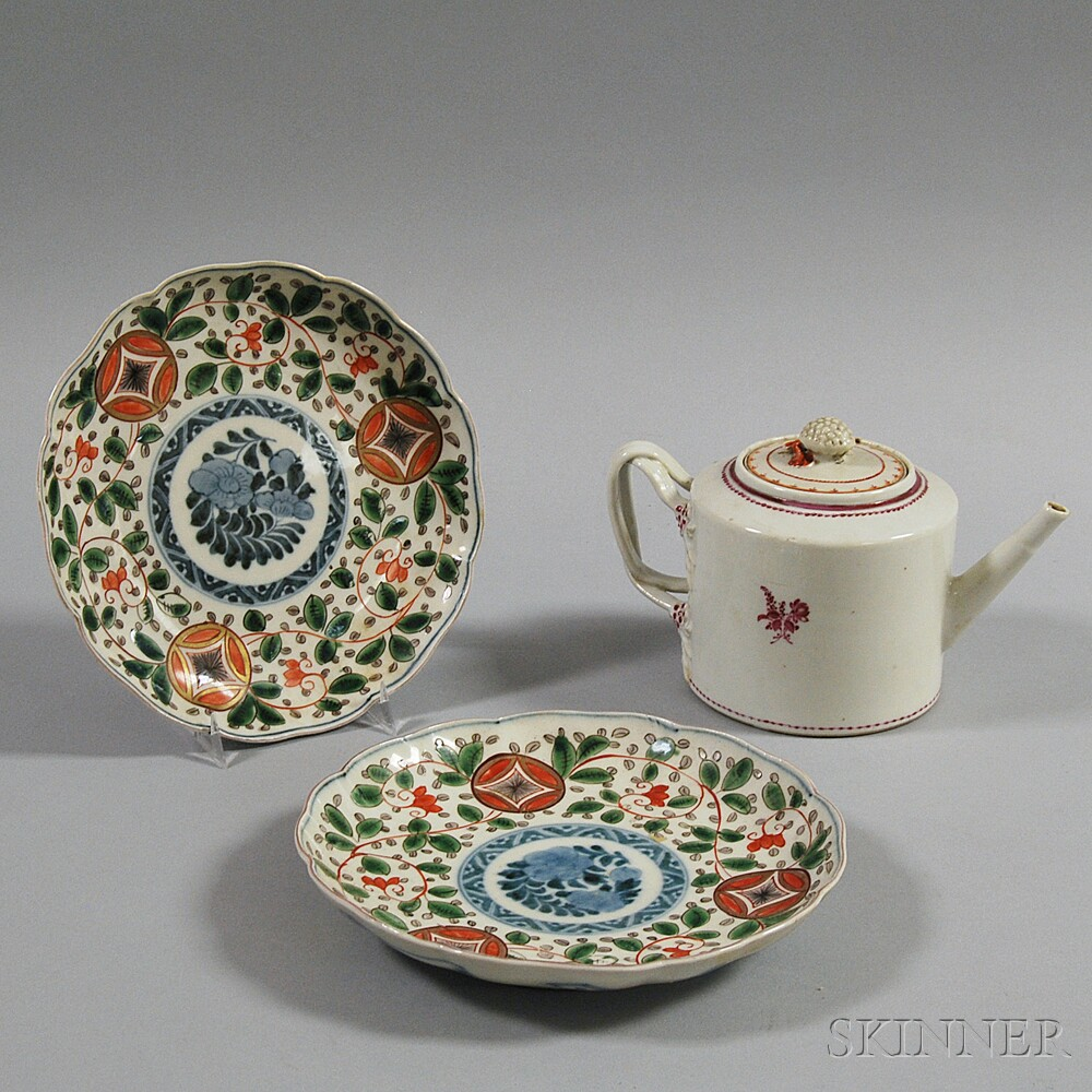 Three Pieces of Chinese Export Porcelain