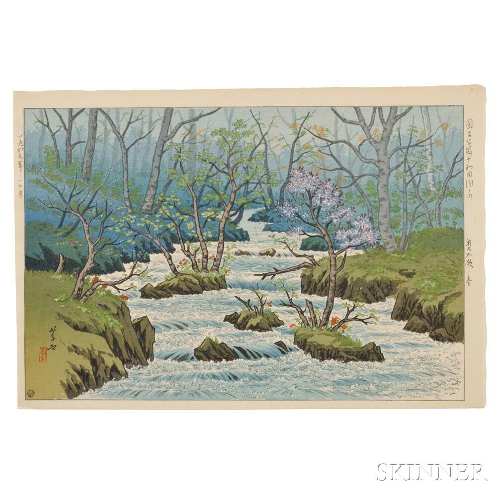 Ito Takashi (1894-1893), Spring at Oirase, Towadaka National Park