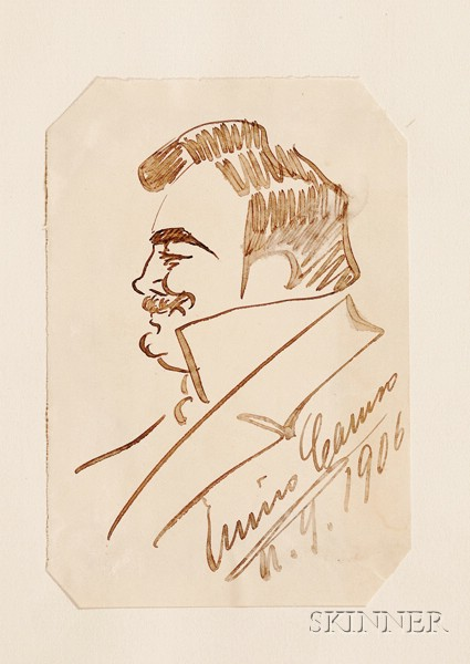 Caruso, Enrico (1873-1921), Original Drawing