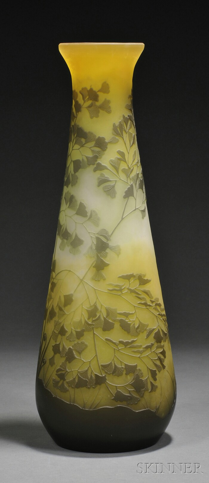 Tall Galle Cameo Glass Vase