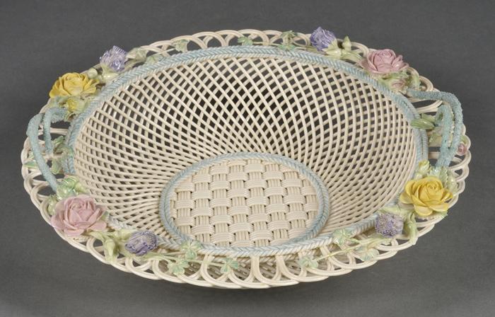 Belleek Porcelain Sydenham Twig Fruit Basket