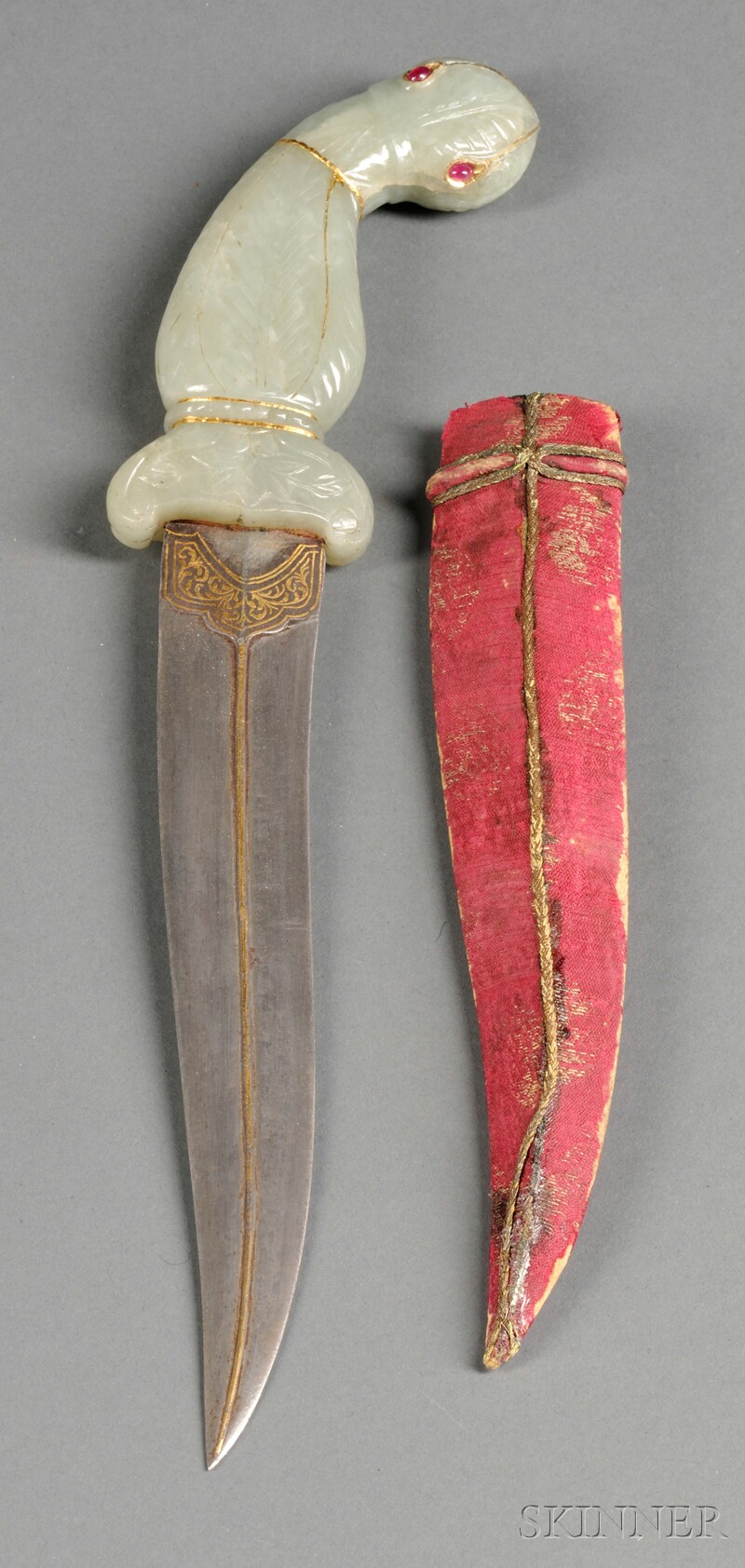 Jade-handled Dagger with Scabbard