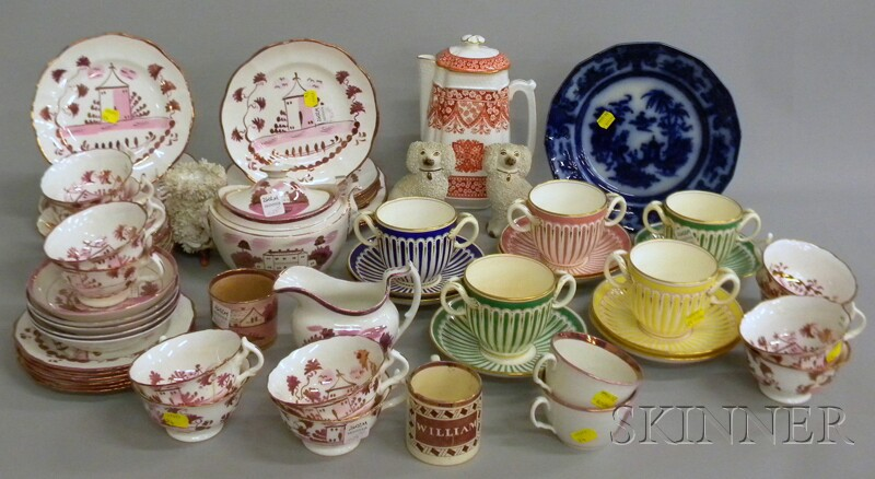 Lot of English Lustreware and Other Decorated Ceramics