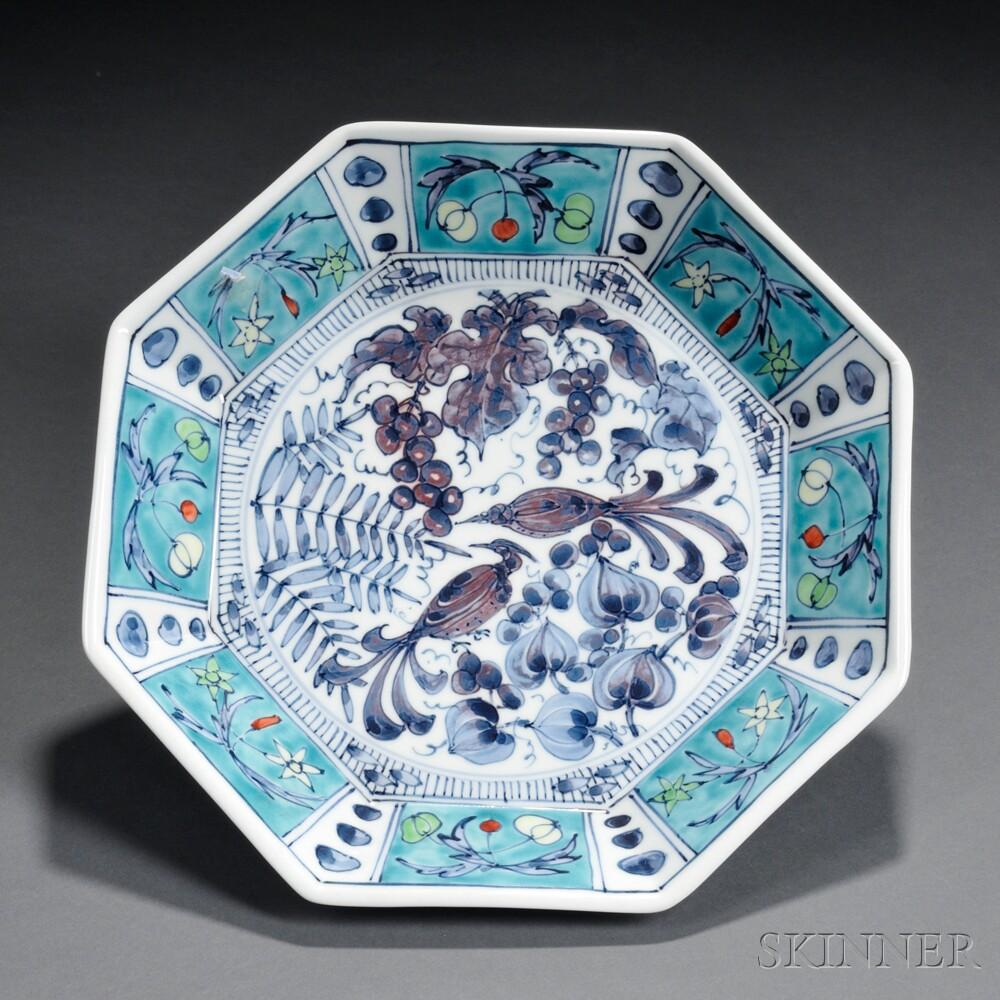 Ono Shouji (b. 1927) Octagonal Plate