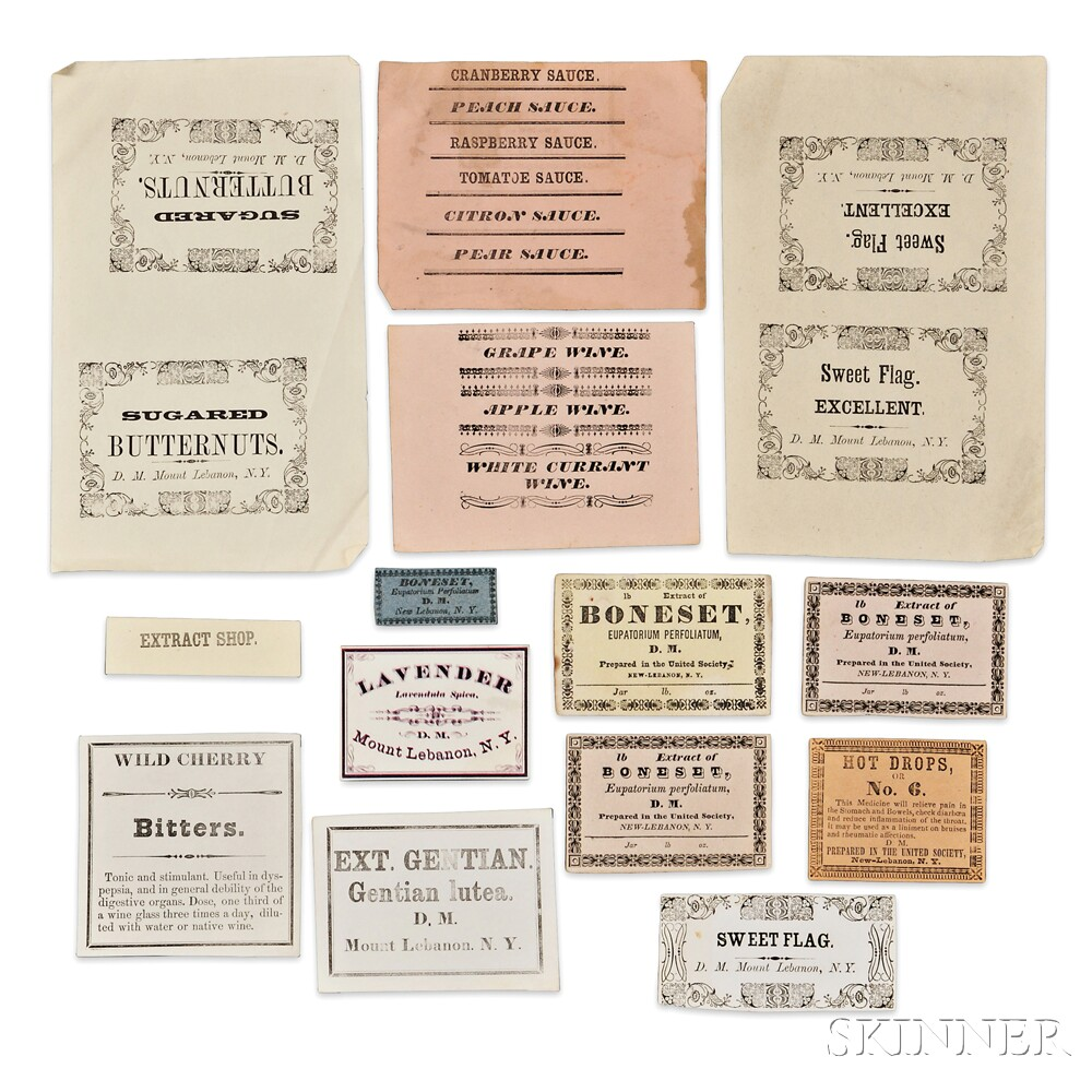 Fourteen Shaker Herb or Product Labels