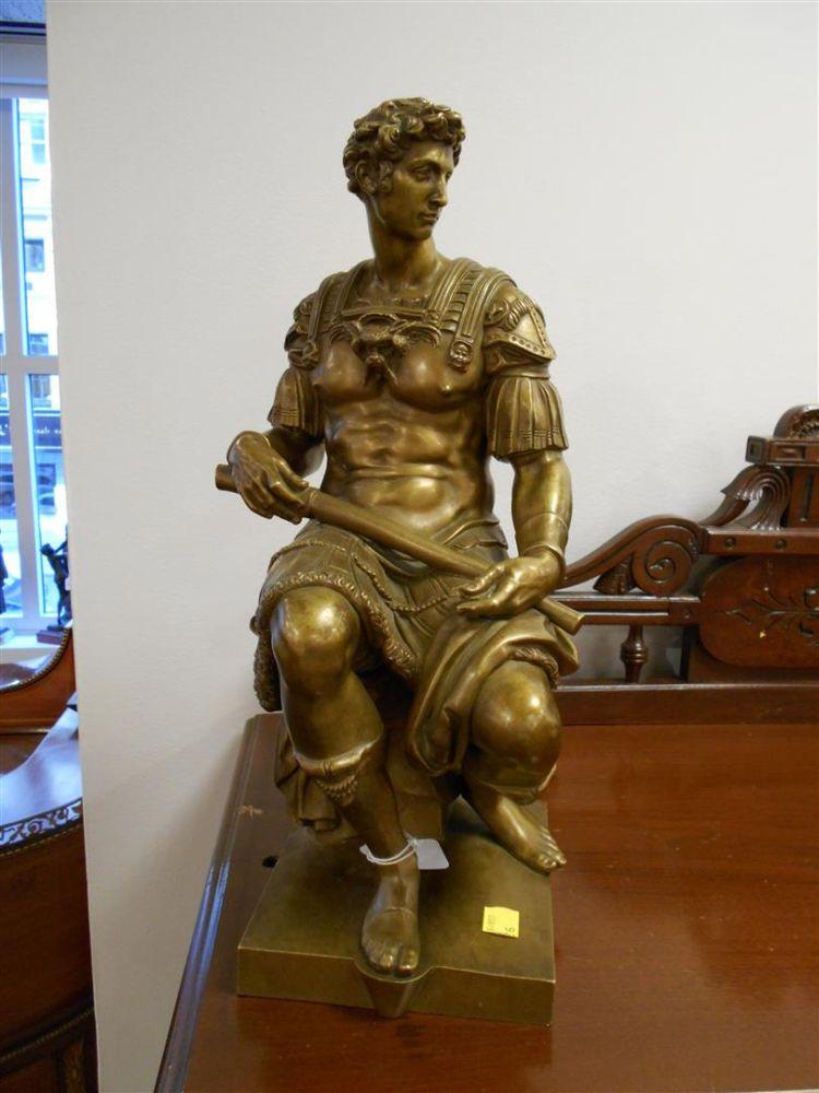 Pair of Bronze Figures of Warriors