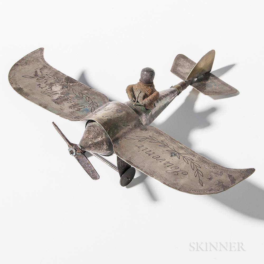 Trench Art Model of World War I Airplane