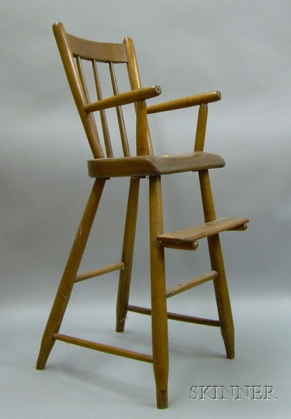 Childs Windsor Rod-back High Chair.
