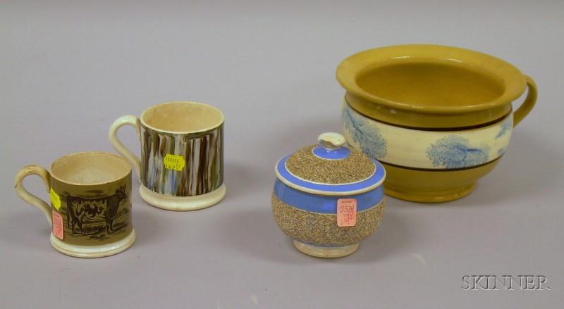 Four Pieces of Decorated English Ceramics
