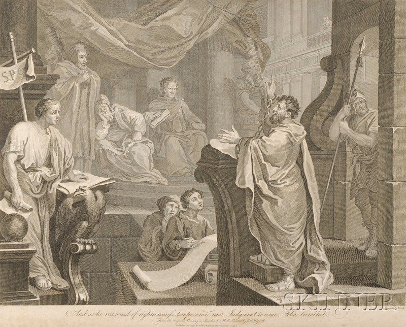 Thomas Cook (British, 1744-1818), After William Hogarth (British, 1697-1764) Lot of Thirteen Engravings: The Beggars Opera, Hudibra...