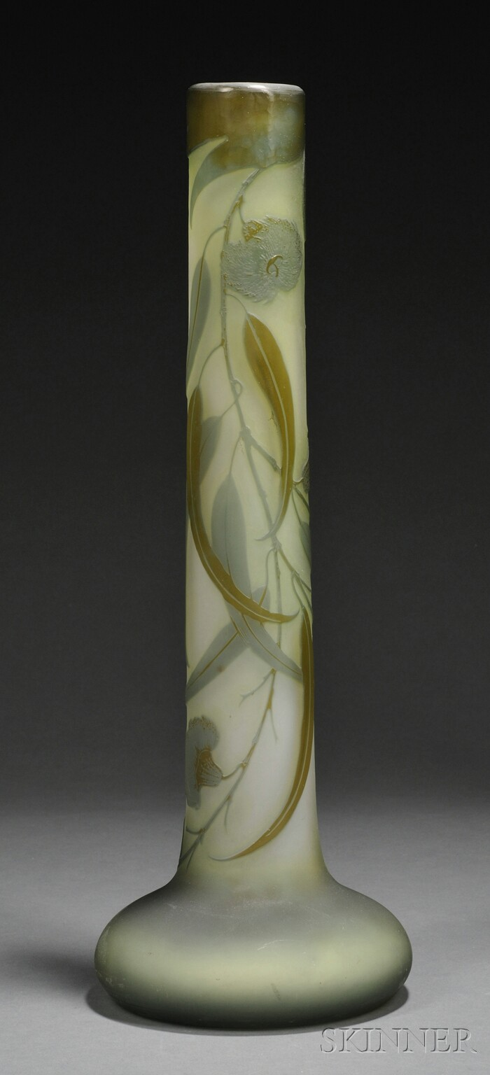 Galle Tall Cameo Glass Vase