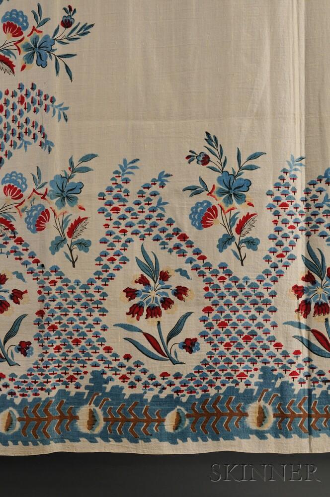 Floral-printed Silk and Wool Scarf